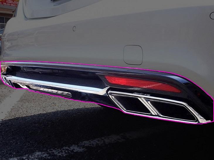 メルセデス ベンツ W222 Sクラス 純正品 AMG S65 マイナー前 リアディフューザー&マフラーエンド 一式セット S400 S550 S600 AMGライン車 Mercedes Benz