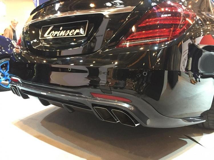 Lorinser ロリンザー リアディフュザー メルセデス ベンツ Sクラス W222 後期 AMGライン用 S400 S450 S550 S560 S63