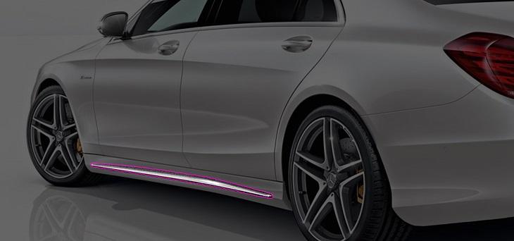 W222 Sクラス マイナー前純正品 AMG S63 サイドスカートトリムロング用Mercedes Benz メルセデス ベンツ S400 S550 AMGライン