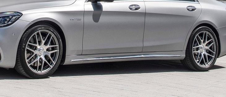 W222 Sクラス ロング AMGライン マイナー後AMG 純正品 S63 サイドスカート トリムセットMercedes Benz メルセデス ベンツ