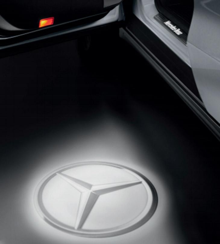 純正 LED プロジェクター ロゴライト スターマーク2個セットMercedes Benz メルセデスベンツNEW CLAクラス(C118・X118) CLSクラス(C257) Eクラスクーペ・カブリオレ(C238・A238) Sクラスクーペ・カブリオレ(C218・A217)※マイナー後