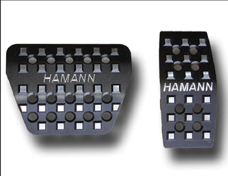 《HAMANN ハーマン》 ペダルセット アノダイズブラック アルミ製・AT用RANGE ROVER SPORT 2014y レンジローバー