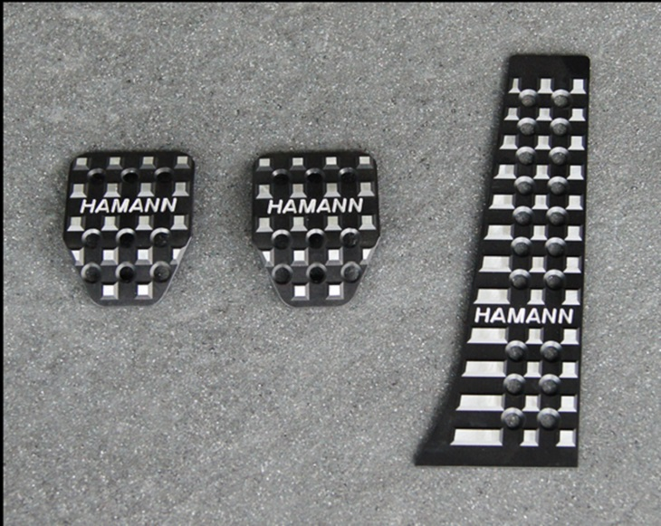 《HAMANN ハーマン》 ペダルセット  アルミ製・MT用 アノダイズブラックBMW F30 / F31 / F34