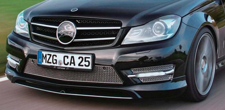 決算セール☆大特価!《カールソン Carlsson 》フロントスポイラー AMGスポーツパッケージ用メルセデス ベンツ C204 Cクラス クーペ 後期Mercedes Benz