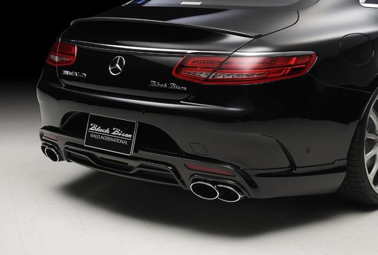 《WALD ヴァルド》リアスカート カーボン/FRP製Mercedes Benz メルセデス ベンツ Sクラスクーペ/カブリオレ C217 2014y~