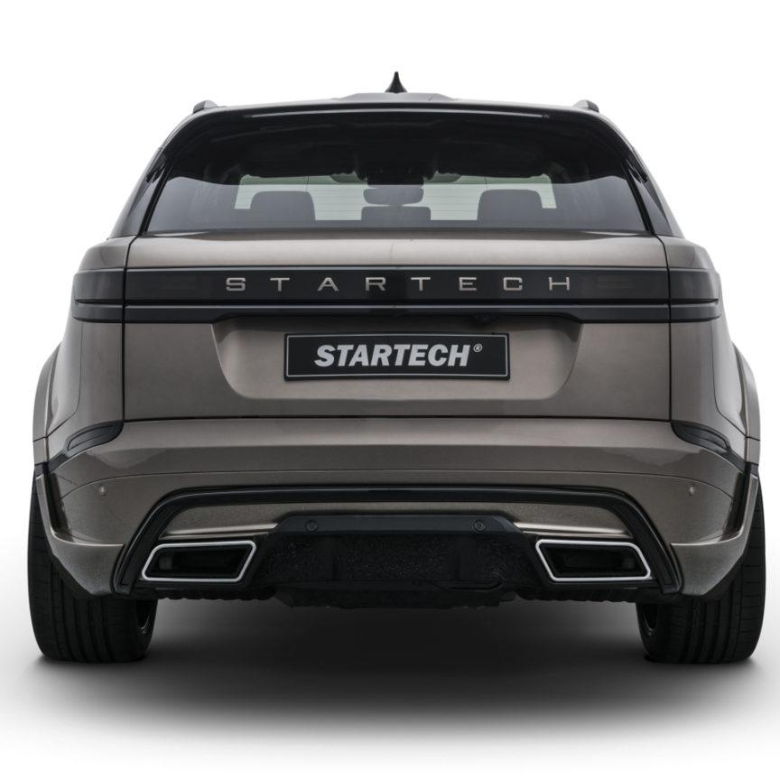 STARTECH スターテックRange Rover Velar レンジローバー ヴェラールリアバンパー with Silver Tailpipes