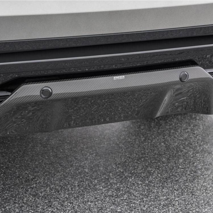 STARTECH スターテックRange Rover Velar レンジローバー ヴェラールリアバンパー with Black Tailpipes/Carbon Diffuser