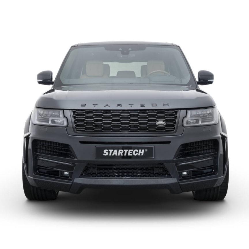 STARTECH スターテックRange Rover レンジローバー 2018y~フロントスポイラー with LED Daylight Carbon diffuser