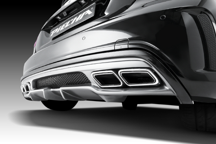PIECHA ピーチャ リアディフューザー Mercedes Benz メルセデス ベンツ Aクラス W176 AMGスタイリング車用