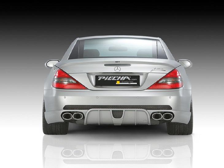 《PIECHA DESIGN ピーチャ デザイン》リアスカートMercedes Benz メルセデス ベンツ R230(~2007y)SLクラス