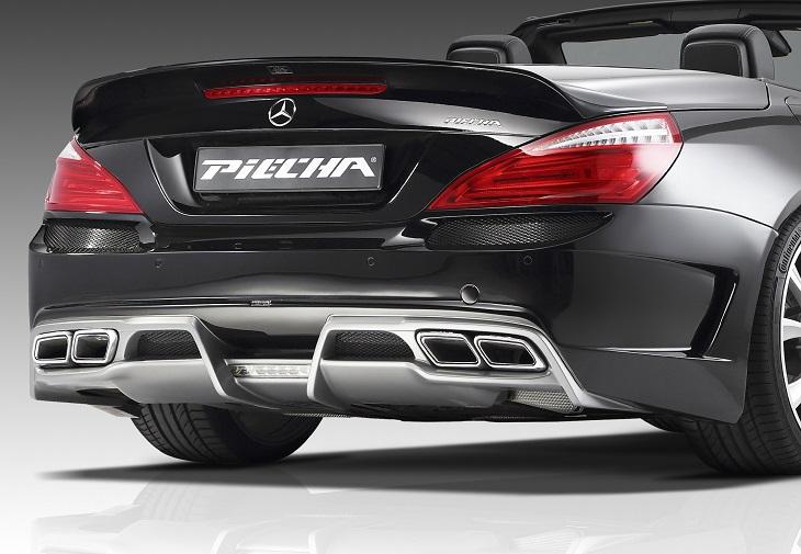 《PIECHA DESIGN ピーチャ デザイン》◇リアバンパースポイラー◇Mercedes Benz メルセデス ベンツ SLクラス R231