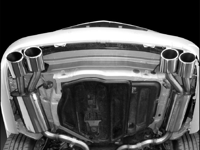 《PIECHA DESIGN ピーチャ デザイン》リアマフラー 【6/8cyl・4本出し】Mercedes Benz メルセデス ベンツ C207 Eクラスクーペ