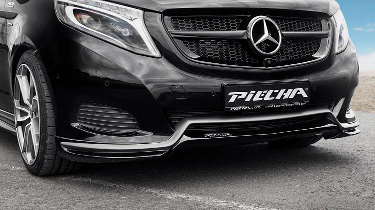 《PIECHA ピーチャ》MercedesBenzメルセデスベンツ Vクラス W447 RS-Rフロントリップスポイラー(スタンダードバンパー用)