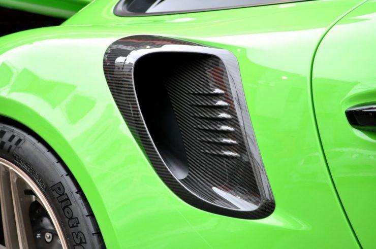 TECHART テックアートサイドエアインテイクカバー カーボンポルシェ 991.2 GT3 RS