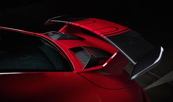 TECHART テックアートリアエアインテイクカバー カーボンポルシェ 991.2 GT3