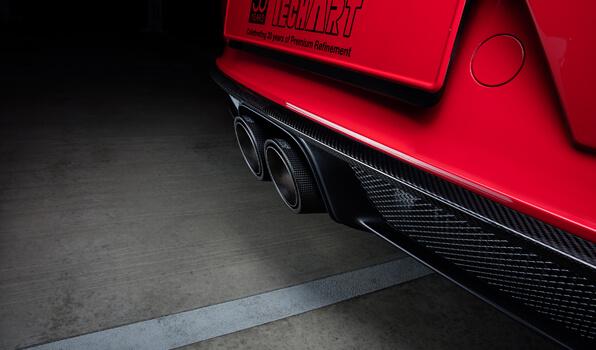 TECHART テックアートディフューザーフレーム カーボンポルシェ 991.2 GT3
