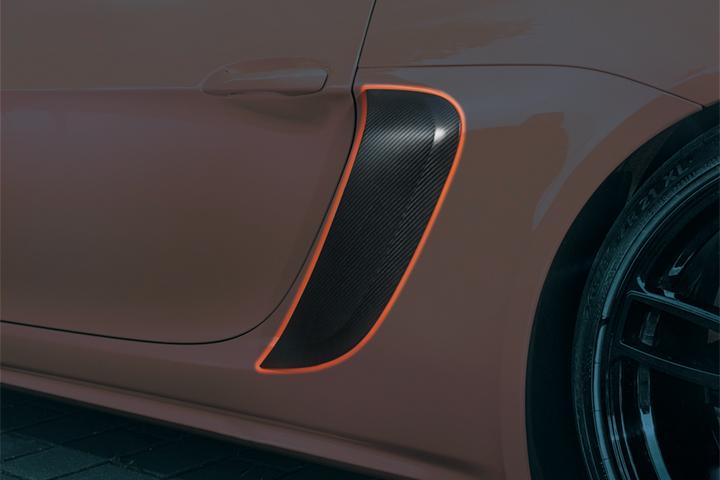 TECHART テックアート エアダクトカバー リアフェンダー部 カーボン PORSCHE ポルシェ ケイマン ボクスター 718 Cayman Boxster