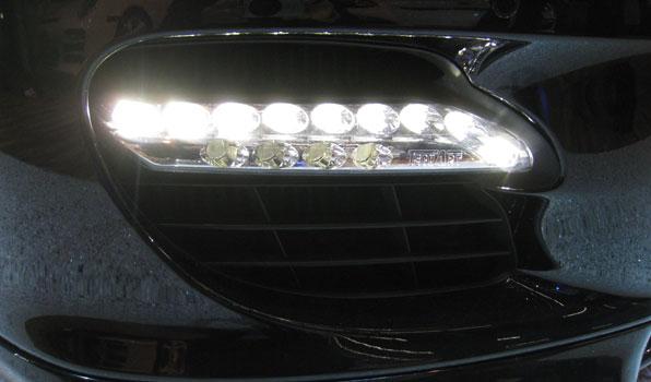 TECHART テックアート LEDデイライト クローム PORSCHE ポルシェ パナメーラ 970 ターボ