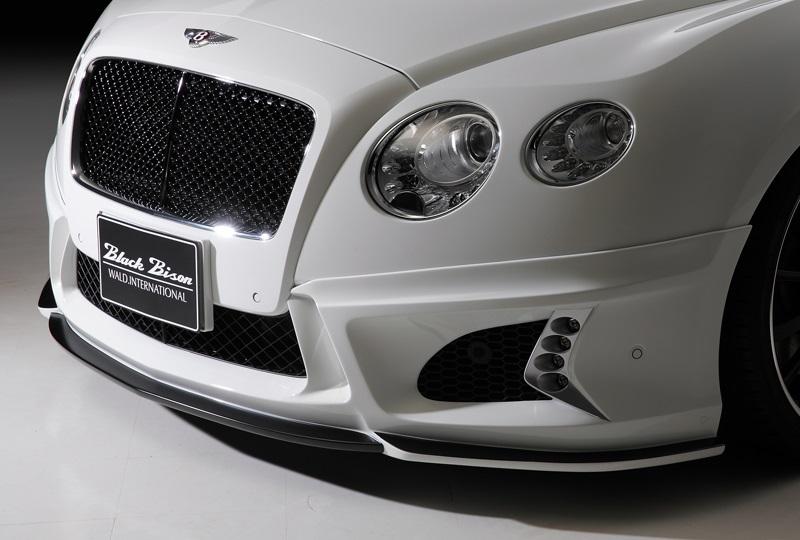 《WALD ヴァルド》フロントバンパースポイラーBENTLEY CONTINENTAL GT 2011y~LEDランプ、ネット付属ベントレー コンチネンタルGT