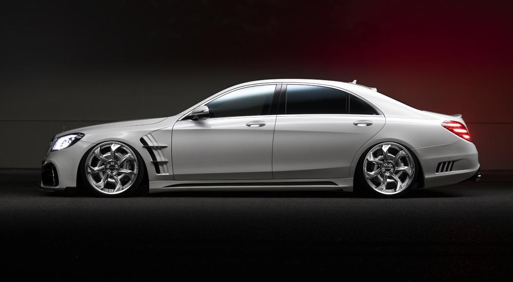 WALD ヴァルド スポーツライン ブラックバイソン エディション カーボンピラーパネル MercedesBenz メルセデスベンツ Sクラス W222 2017y~ マイナー後 S450 S560 S63   ※送料無料