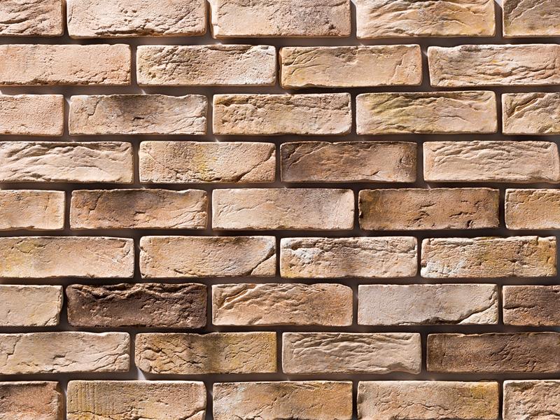 欧風 ヨーロッパ風 アンティーク調ブリックタイル 外壁 店舗 イエロー~ブラウン系 ブリックタイル イエローアンティーク 代引き不可 約1m2 ヨーロピアンブリック 1ケース63枚 入り フラット 国内在庫 セメント系壁面ブリックタイル