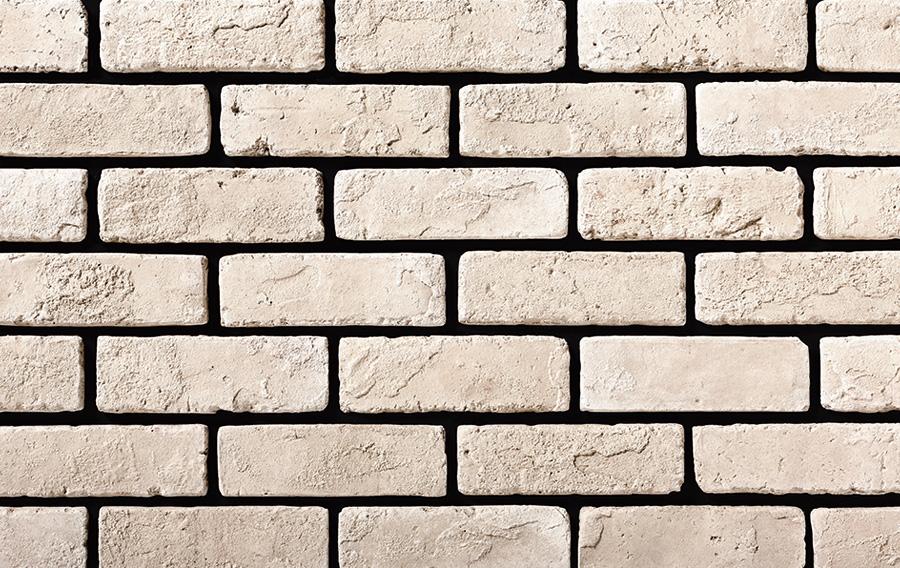 大人気激安ブリックタイル DIY 本格的 アンティーク調 白系 ブリックタイル 日本 ニューブリック ストアー ホワイト 1ケース66枚 約1m2 フラット 入り セメント系壁面ブリックタイル