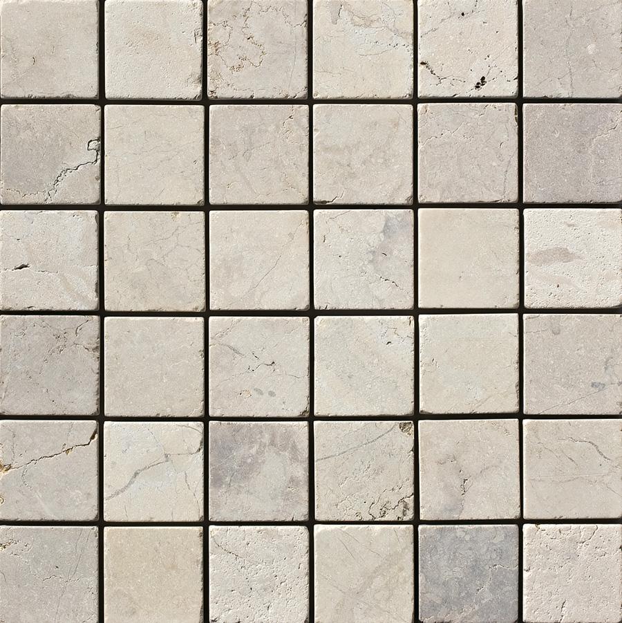 ナチュラルスタイルの玄関 玄関ポーチには絶対コレ 大人気天然大理石 天然大理石 ファインタンブルストーン 出色 1ケース40枚 クリーム 100mm角 約0.44m2 2020春夏新作 入り