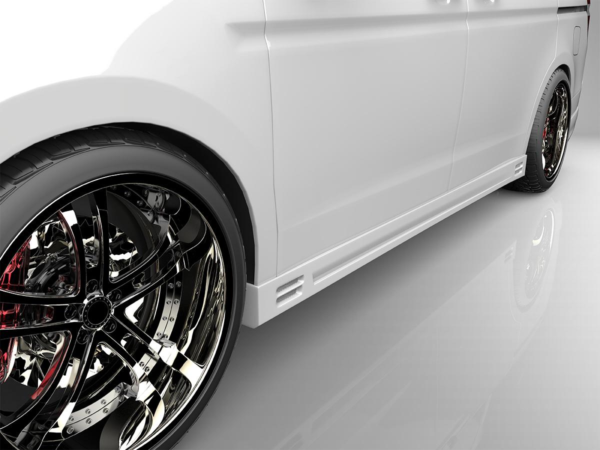 ■国産エアロパーツ!保証付き!!NEW MODEL/EUROUステップワゴン RK1 RK2 標準グレード 前期サイドステップ エアロパーツ