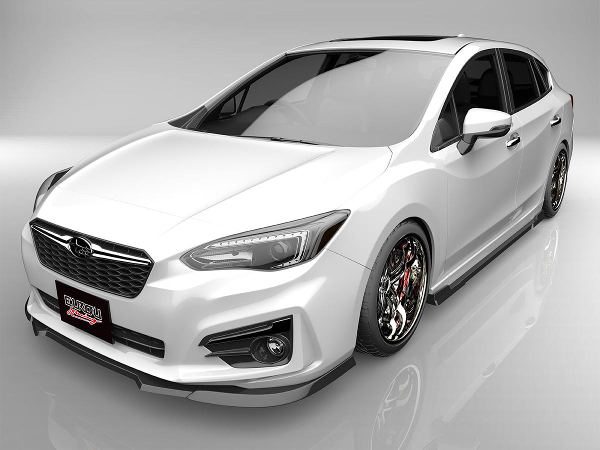 ■国産エアロパーツ!保証付き!!NEW MODEL/EUROUインプレッサスポーツ GT2 GT3 GT6 GT7フロントアンダースポイラー サイドステップ 2点キット エアロパーツ