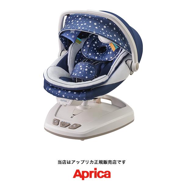 【Apricaアップリカ正規販売店】スマートスウィングプラス(Smart Swing Plus)ネイビー NV電動スウィング&ポータブル(自動ゆりかご)
