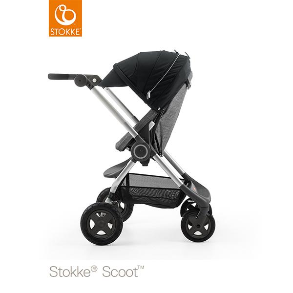 【STOKKEストッケ正規販売店】Stokke Scoot2ストッケ 新スクート2セットベーシックキット(ブラックメラーンジ) +キャノピー(ブラック)