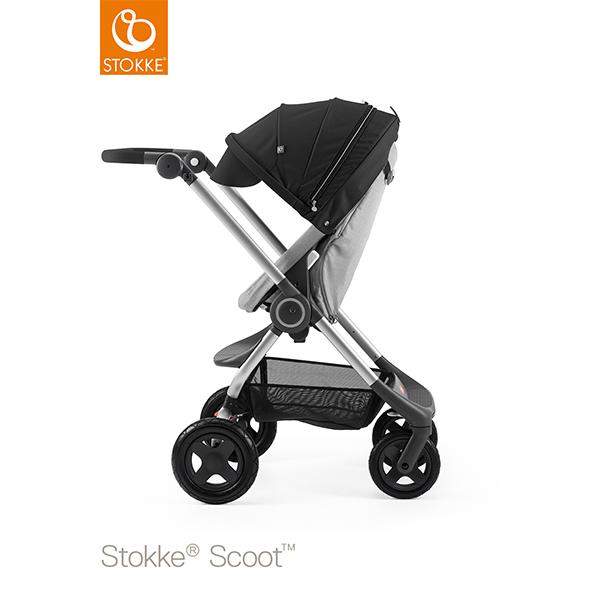 【STOKKEストッケ正規販売店】Stokke Scoot2ストッケ 新スクート2セットベーシックキット(グレーメラーンジ) +キャノピー(ブラック)