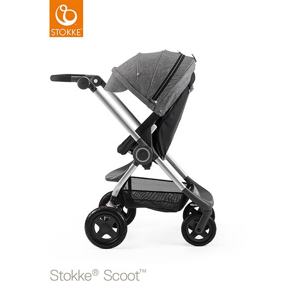 【STOKKEストッケ正規販売店】Stokke Scoot2ストッケ 新スクート2セットベーシックキット(ブラック) +キャノピー(ブラックメラーンジ)