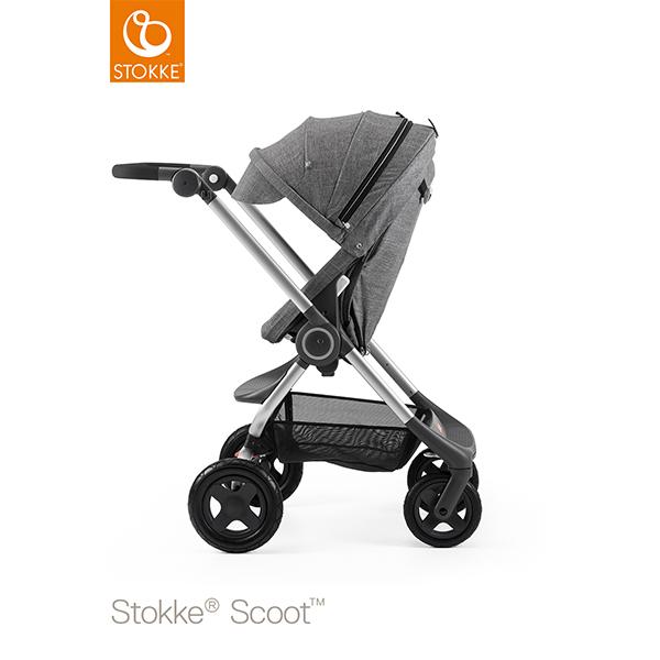 【STOKKEストッケ正規販売店】Stokke Scoot2ストッケ 新スクート2セットベーシックキット(ブラックメラーンジ) +キャノピー(ブラックメラーンジ)