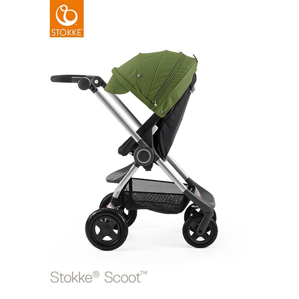 【STOKKEストッケ正規販売店】Stokke Scoot2ストッケ 新スクート2セットベーシックキット(ブラック) +キャノピー(グリーン)