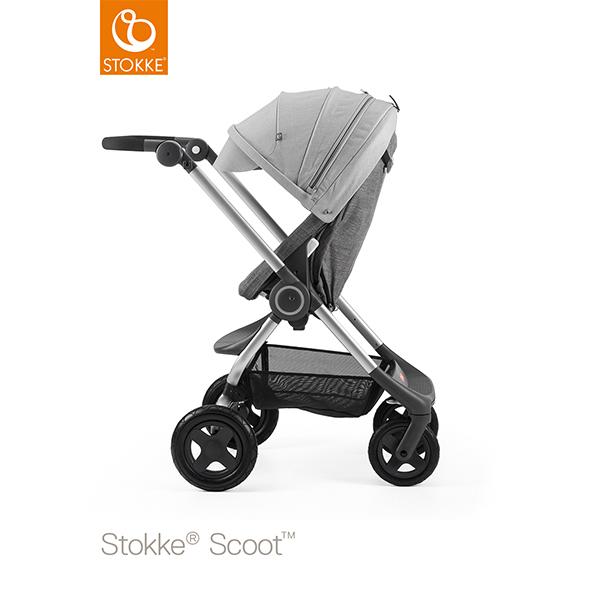 【STOKKEストッケ正規販売店】Stokke Scoot2ストッケ 新スクート2セットベーシックキット(ブラックメラーンジ) +キャノピー(グレーメラーンジ)