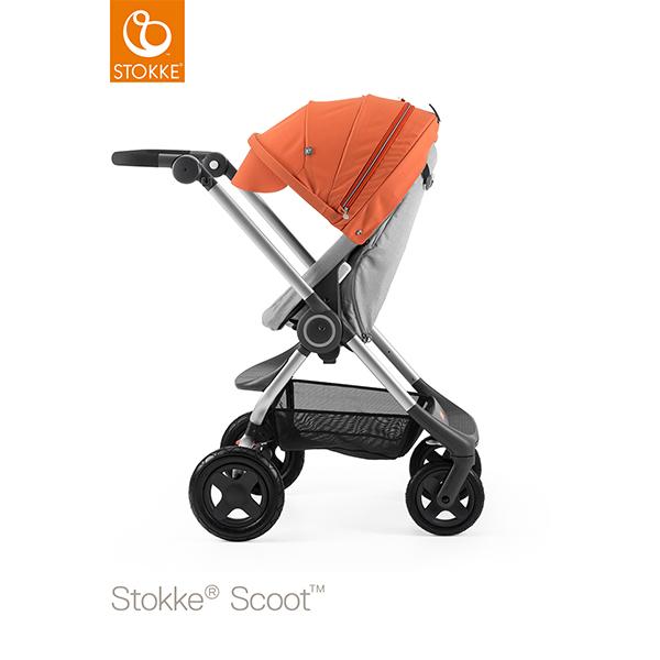 【STOKKEストッケ正規販売店】Stokke Scoot2ストッケ 新スクート2セットベーシックキット(グレーメラーンジ) +キャノピー(オレンジ)
