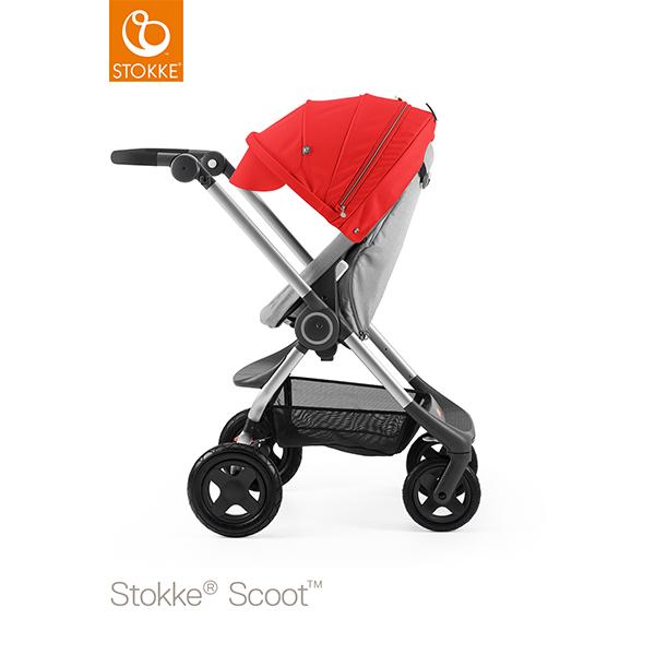 【STOKKEストッケ正規販売店】Stokke Scoot2ストッケ 新スクート2セットベーシックキット(グレーメラーンジ) +キャノピー(レッド)