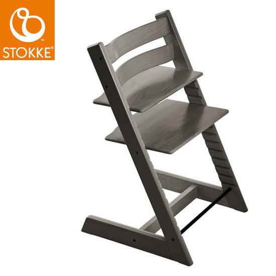 【STOKKEストッケ正規販売店】ストッケトリップトラップチェア(ヘイジーグレー)Tripp Trapp Chair【登録で7年延長保証】