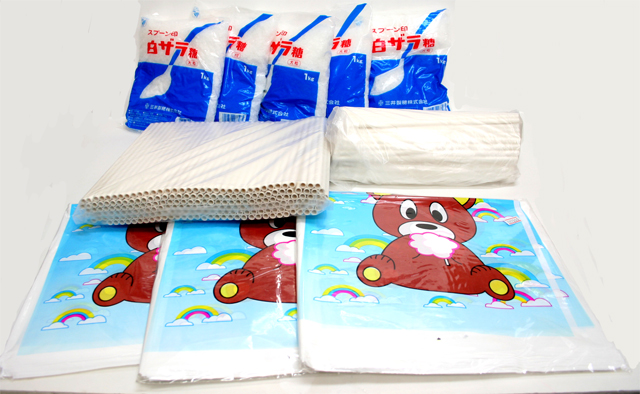 綿菓子材料セット【わたがし材料セット】 (白)300人用