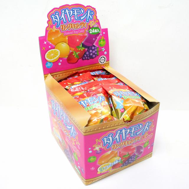 ダイヤモンドリングキャンディー 24個入 数量は多 オーバーのアイテム取扱☆ 駄菓子