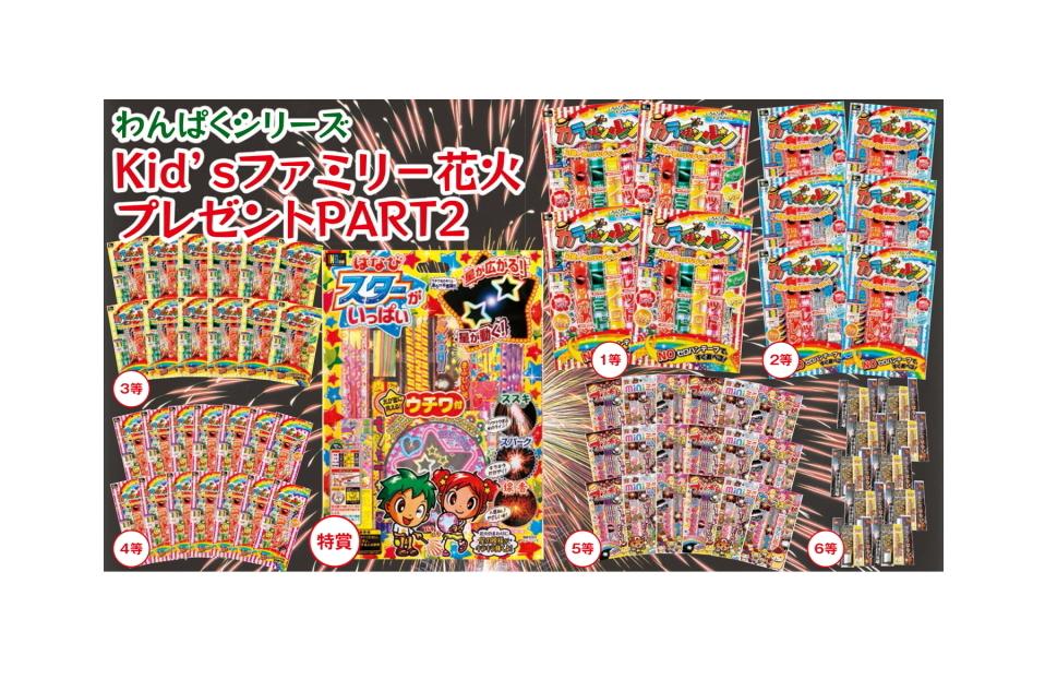 KId'Sファミリー花火プレゼントPART2 100名様用(コード21437/25500)