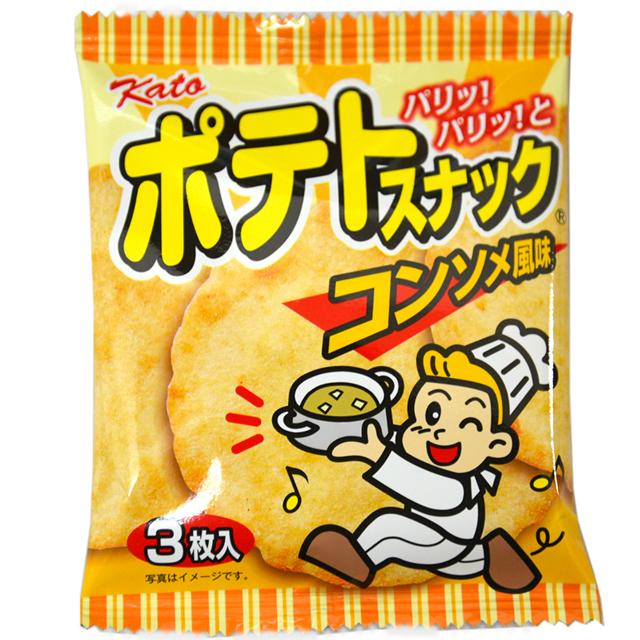 かとう製菓 ランキングTOP5 35円 ポテトスナック コンソメ風味 駄菓子 買い物 20入