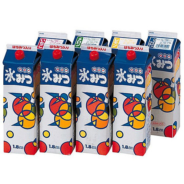 かき氷用シロップ(約400名用) 1.8L×お好み8本セット / カキ氷 氷蜜 縁日 食べ物 模擬店 夜店 お祭り