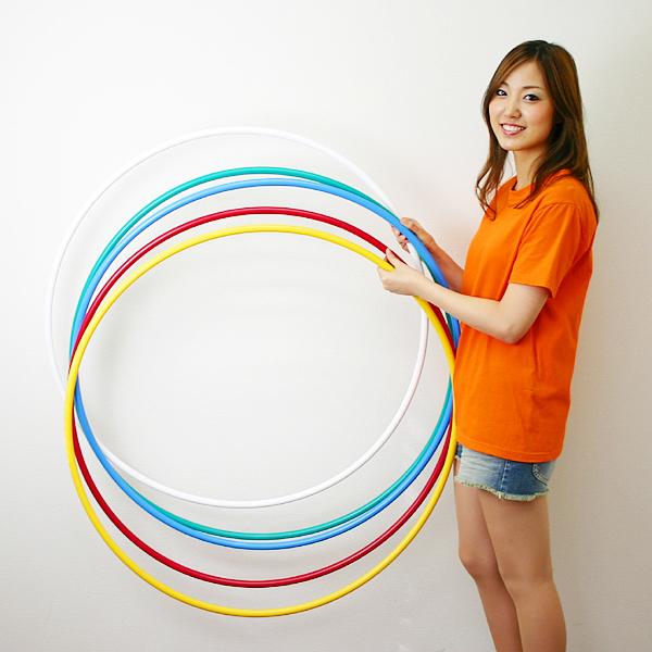 フラフープ カラーリング 直径90cm 5色1組 [大型商品160cm以上]