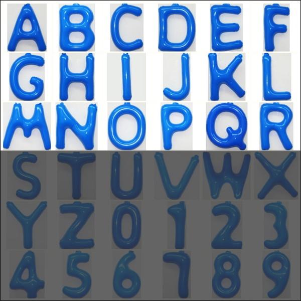 no-12037 35cm英語POPバルーン 新商品 青 A~R アルファベット 文字 動画有 メール便可 供え 風船 ロゴ装飾 丈夫 ビニール製