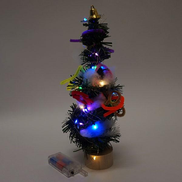 イルミネーションライト付き 手作りクリスマスツリー 10個
