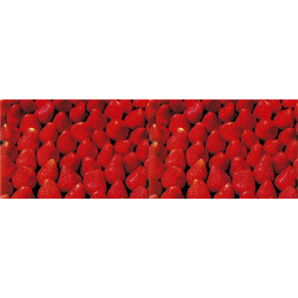 イチゴ装飾 いちごビニール幕 60cm×50m巻 / 飾り ディスプレイ 春
