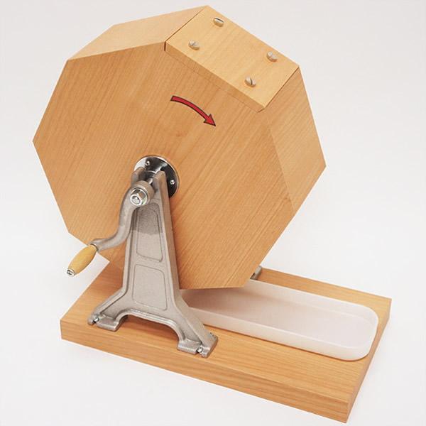 おすすめタイプ木製ガラポン[ガラガラ]福引抽選器 1000球用【玉が飛び跳ねにくい特殊受け皿付】 /動画有