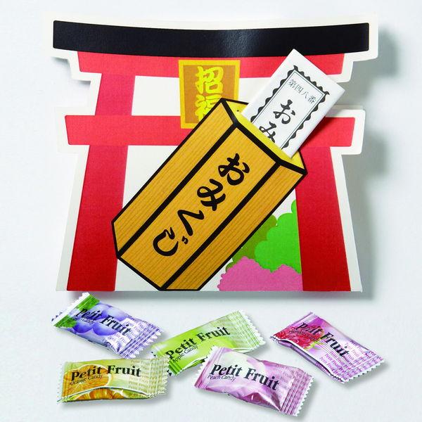 感謝飴 水引付・四葉柄キャンディー 赤袋 200個セット / 景品 粗品 ギフト